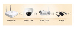 720p Wi-Fi Kitkit/NVR4104-W/2-Hfw1120s-W/2-Hdbw1120e-W Embedded Linux {Kit/NVR4104-W/2-Hfw1120s-W/2-Hdbw1120e-W} pictures & photos
