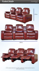 China Auditorium Seating Cinema Hall Chair Film Seating (T015-S) pictures & photos