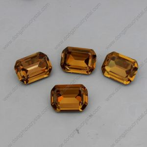 China Lead Free Colored Glass Loose Crystal Stone for Costumes pictures & photos