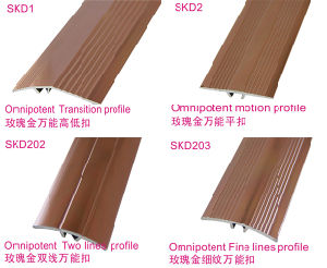 Flooring Accessories of Rose Golden Omnipotent Transition and Motion Profiles pictures & photos