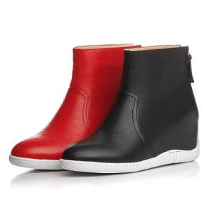Heel Lifted Heel Round Toe Lady Women MID-Calf Boots