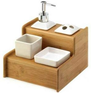 Bamboo Soap Dish Rack for Bathroom Furniture pictures & photos