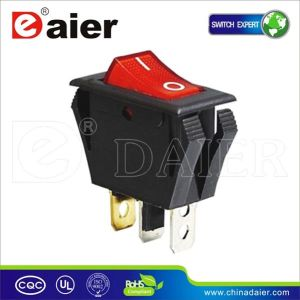 Red Illuminated Black Color Rocker Switch T120 pictures & photos
