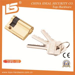 Brass Mortise Door Lock Cylinder (TOPS-10) pictures & photos