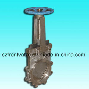 Cast Steel/Cast Iron Wafer Type Knife Gate Valve pictures & photos