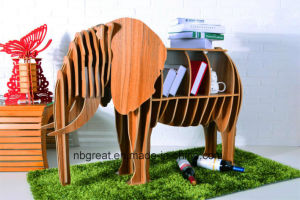 Wooden Bookshelf for Elephant Model pictures & photos