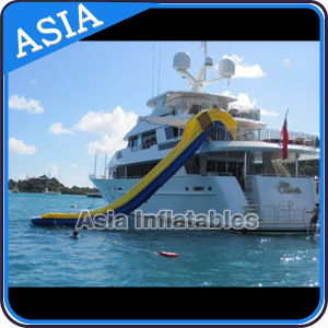 Yacht Slide Inflatables Water Games / Customized Inflatable Slides for Yacht/ Cruiser, High Water Slide on Sea pictures & photos
