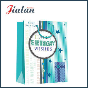 """Just for You"" Happy Birthday Wishes Shopping Gift Paper Bag pictures & photos"