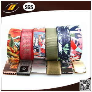 Fashion Unisex Mens Womens Cotton Canvas Fabric Metal Buckle Woven Belts (HJ15099) pictures & photos