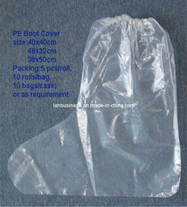 Disposable PE Waterproof Plastic Boot Shoe Cover pictures & photos