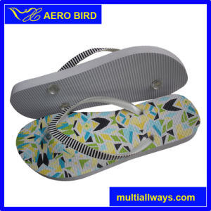 Colorful Print PE Sandal with Beads on Straps pictures & photos