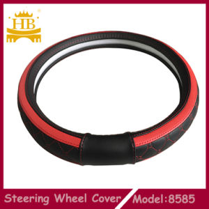 High Quality PU with Embroidery Car Steering Wheel Cover