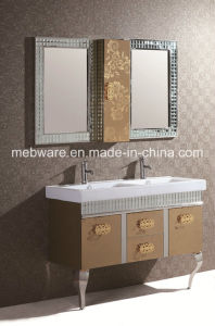 Middle East Double Sink Ss Bathroom Cabinet pictures & photos