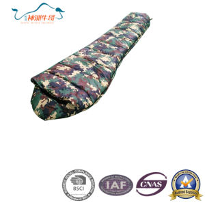 Camouflage Camping Winter Protectin Mummy Sleeping Bag