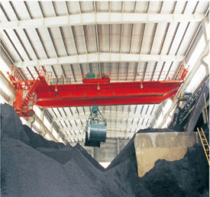 Qz Model 5t to 20t Grab Overhead Crane for Materials Handling pictures & photos