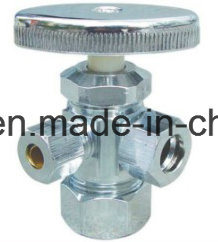 Chorme Plating Brass Forged 3-Way Male Angle Valve pictures & photos