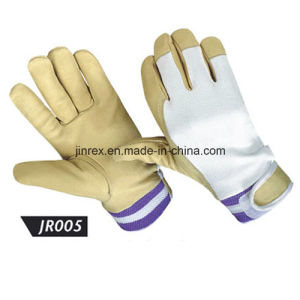 Promotional Pigskin Leather Mechanics Working Safe Full Finger Glove pictures & photos
