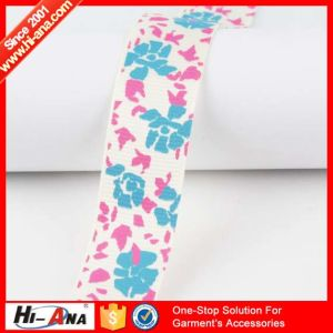 Stict QC 100% Hot Selling Character Printed Grosgrain Ribbon pictures & photos