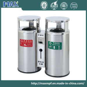 Stainless Steel Round Shape Trash Can pictures & photos