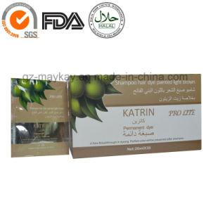 Katrin Hair Dye Shampoo 20ml Light Brown pictures & photos