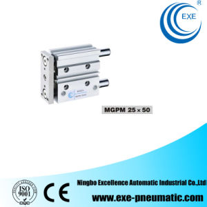 Mgp Series New Compact Three Shaft Pneumatic Cylinder Mgp Mgpm25*50 pictures & photos