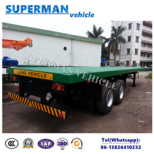 40FT 2 Axle Flatbed Container Cargo Transport Truck Trailer pictures & photos