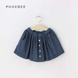 100% Cotton Blue Girl Skirt pictures & photos