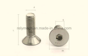 Stainless Steel Countersunk Hex Socket Flat Head Machine Screw M6-M10 pictures & photos