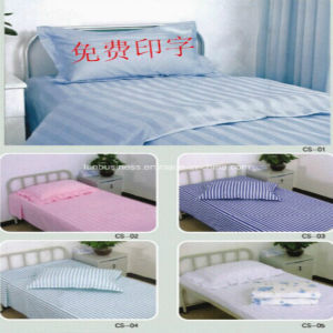 Ly Hotel and Hospital Use Cotton Bed Sheet Set (LY-MUS) pictures & photos