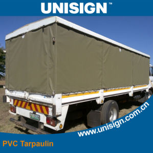 Flame Retardant 650GSM PVC Truck Cover Tarpaulin with Eyelet pictures & photos