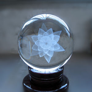 3D Laser Crystal Glass Ball Craft for Souvenir pictures & photos