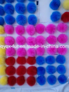 Factory Wholesale Colorful Real Fox Fluffy Fur POM pictures & photos