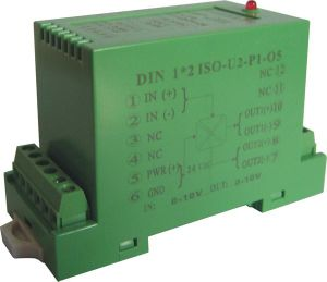 0-20mA to 0-5V Differential Signal Transmitter with DIN Rail-Mounting pictures & photos