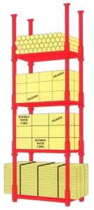 Movable and Stackable Pallet Stacking Rack for Warehouse Storage pictures & photos