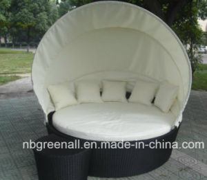 Rattan Outdoor Round Sunbed pictures & photos