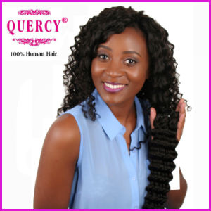 Quercy Hair Unprocessed Human Hair Wholesale Top Grade Peruvian/Indian/Brazilian Deep Wave Hair Extension pictures & photos