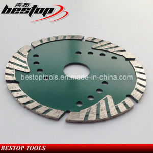 D115mm Diamond Stone Triangle Teeth Protect Turbo Cutting Saw Blade pictures & photos