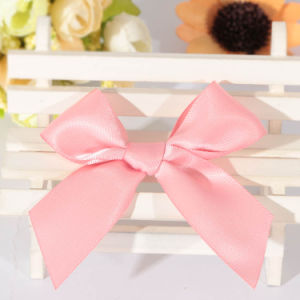 Factory Price Pink Satin Ribbon Bow for Clothing pictures & photos