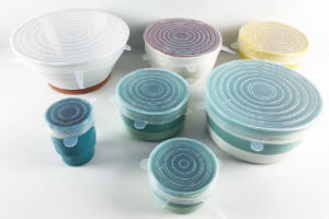 Food Grade Silicone Universal Stretch Lids for Cups, Pots, Bowls, Pans, Containers pictures & photos