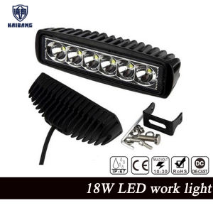 New 18W 12V LED Work Light Bar Spotlight Flood Lamp Driving Fog Offroad LED Work Car Lights for Jeep Toyota SUV 4WD Boat Truck pictures & photos