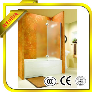 Decorative 8mm/10mm/12mm Tempered /Toughened Glass for Bathroom pictures & photos