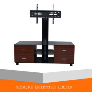 Simple Wood Furniture Used LCD TV Stands Glass TV Stand with 2 Drawer pictures & photos