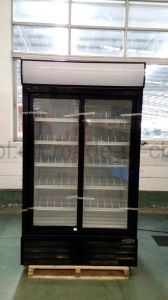 Sliding Double Doors Merchandiser Cooler pictures & photos