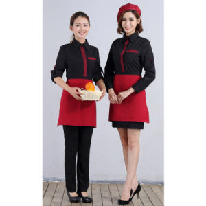 High Quality Made in China Wholesale Polyester/Cotton Restaurant Waiter Uniform pictures & photos