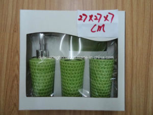 Color-Glazed Ceramic 4PCS Bath Set with Gift Box Packing pictures & photos