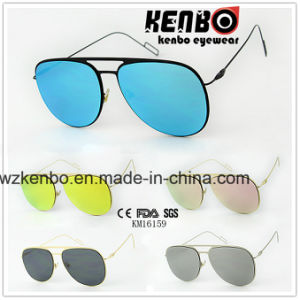 Classic Shape Frame by Special Lens Fitting-in Design Km16159 Fashion Flat Sunglasses pictures & photos