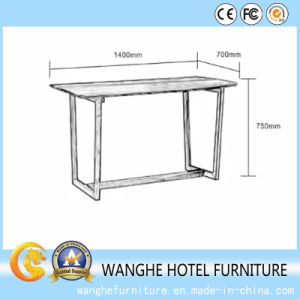 Modern Solid Wood Classic Office Desk Office Table for Hotel Room pictures & photos