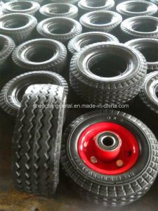 6X2 Solid PU Foam Wheel with Steel Rim