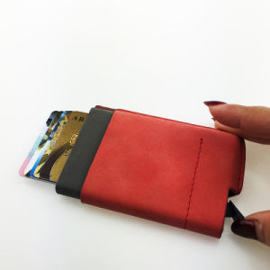 RFID Blocking Minimalist PU Leather Slim Front Pocket Wallet pictures & photos