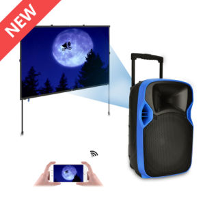 Best-Seller Portable Wireless Video Speaker with Projector and Screen